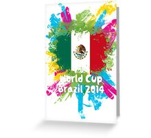 World Cup Brazil 2014 - Mexico Greeting Card