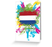 World Cup Brazil 2014 - Netherlands Greeting Card