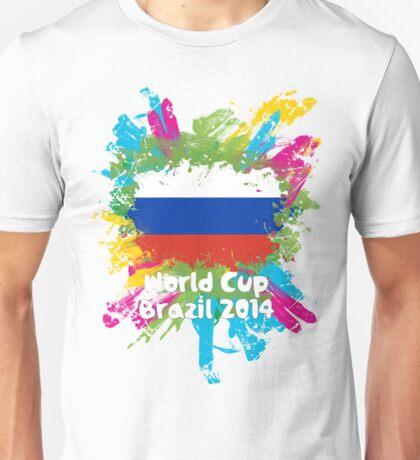 World Cup Brazil 2014 - Russia Unisex T-Shirt