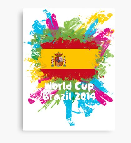 World Cup Brazil 2014 - Spain Canvas Print