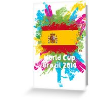 World Cup Brazil 2014 - Spain Greeting Card
