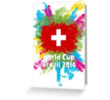 World Cup Brazil 2014 - Switzerland Greeting Card