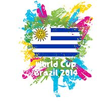World Cup Brazil 2014 - Uruguay Photographic Print