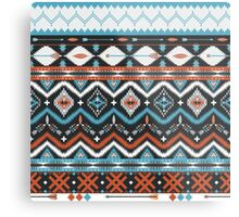 Native american seamless tribal pattern with geometric elements Metal Print