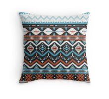 Native american seamless tribal pattern with geometric elements Throw Pillow