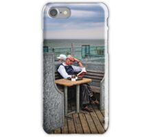 Quietly Reading, Southwold Pier, suffolk iPhone Case/Skin