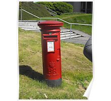 Red Postbox Mailbox Poster