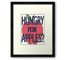 Hungry For Apples? Framed Print