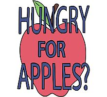 Hungry For Apples? Photographic Print