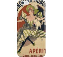 Jules Cheret - Quinquina Dubonnet Poster. Dancer painting: dance, ballet, dancing woman, ballerina, tutu, femine, women, dancer, disco, dancers, girls iPhone Case/Skin