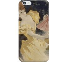 Jules Cheret - Saxoleine (Advertisement For Lamp Oil). Dancer painting: dance, ballet, dancing woman, ballerina, tutu, femine, women, dancer, disco, dancers, girls iPhone Case/Skin