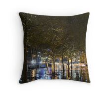 Southbank fairy lights Throw Pillow
