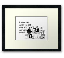 Remember When... Framed Print