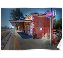 Elmore railway station, Victoria Poster