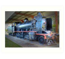 K181 steam engine Art Print