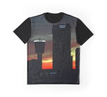 Red Dusk Behind Canadian Skyline | Niagara Falls, New York Graphic T-Shirt