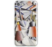 Kazimir Malevich - Morning In The Village After Snowstorm. Abstract painting: abstract art, winter, village, snowstorm, lines, forms, creative fusion, spot, shape, illusion, fantasy future iPhone Case/Skin