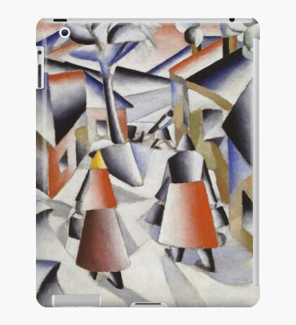 Kazimir Malevich - Morning In The Village After Snowstorm. Abstract painting: abstract art, winter, village, snowstorm, lines, forms, creative fusion, spot, shape, illusion, fantasy future iPad Case/Skin