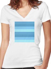 Beach Stripes Women's Fitted V-Neck T-Shirt