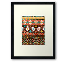 Aztec geometric seamless  colorful pattern Framed Print