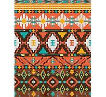 Aztec geometric seamless  colorful pattern Photographic Print