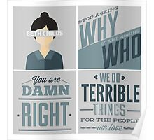Orphan Black Quotes - Beth Childs Poster