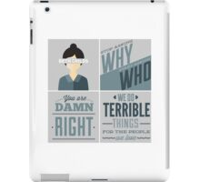 Orphan Black Quotes - Beth Childs iPad Case/Skin