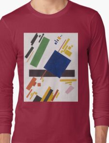 Kazimir Malevich - Suprematist Composition. Abstract painting: abstract art, geometric, expressionism, composition, lines, forms, creative fusion, spot, shape, illusion, fantasy future Long Sleeve T-Shirt