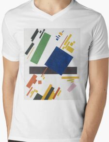 Kazimir Malevich - Suprematist Composition. Abstract painting: abstract art, geometric, expressionism, composition, lines, forms, creative fusion, spot, shape, illusion, fantasy future Mens V-Neck T-Shirt