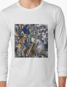 Kazimir Malevich - The Knife Grinder Or Principle Of Glittering. Abstract painting: art, geometric, expressionism, composition, lines, forms, creative fusion, spot, shape, illusion, fantasy future Long Sleeve T-Shirt