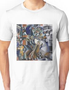 Kazimir Malevich - The Knife Grinder Or Principle Of Glittering. Abstract painting: art, geometric, expressionism, composition, lines, forms, creative fusion, spot, shape, illusion, fantasy future Unisex T-Shirt