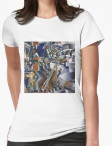 Kazimir Malevich - The Knife Grinder Or Principle Of Glittering. Abstract painting: art, geometric, expressionism, composition, lines, forms, creative fusion, spot, shape, illusion, fantasy future Womens Fitted T-Shirt