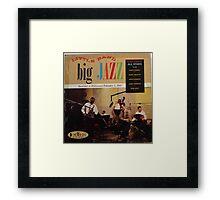 jazz lp on crown Framed Print