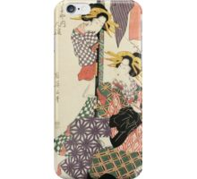 Kikugawa Eizan - Tiger Hour. Woman portrait: sensual woman, geisha, female style, traditional dress, femine, beautiful dress, headdress,  hairstyle, courtesans, sexy lady, erotic pose iPhone Case/Skin