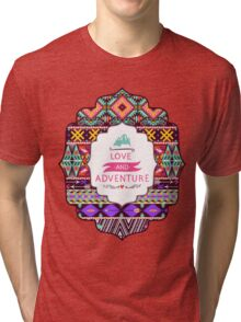 Aztec pattern with geometric elements Tri-blend T-Shirt