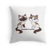 [Gift] Chocolate & Vanilla Chibi Throw Pillow