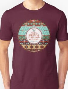 Native american seamless tribal pattern with geometric elements T-Shirt