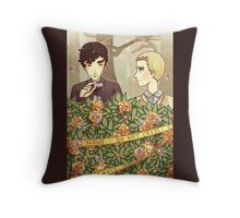yellow roses symbolize a new beginning Throw Pillow