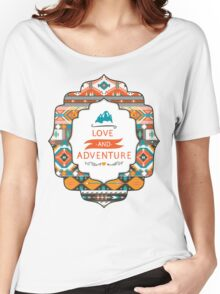 Aztec geometric seamless  colorful pattern Women's Relaxed Fit T-Shirt