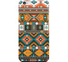 Aztec geometric seamless  colorful pattern iPhone Case/Skin