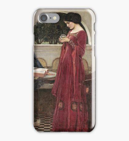 John William Waterhouse - The Crystal Ball . Woman portrait: sensual woman, girly art, female style, pretty women, femine, beautiful dress, cute, creativity, love, sexy lady iPhone Case/Skin