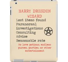 Harry Dresden Business Card iPad Case/Skin