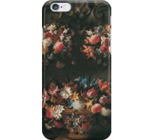 Juan De Arellano - Still Life With Flowers 1660. Still life with flowers: blossom, nature, botanical, floral flora, wonderful flower, plants, cute plant for kitchen interior, garden, vase iPhone Case/Skin