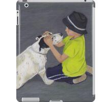 Little Boy and Bull Terrier Dog iPad Case/Skin