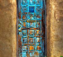 A Santa Fe Blue Door by Ken Smith