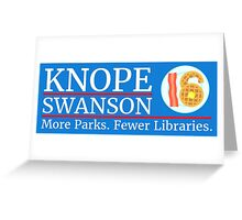 Vote Knope Swanson for Breakfast 2016 Greeting Card