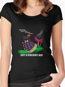 Dalek and the chocolate factory Women's Fitted Scoop T-Shirt