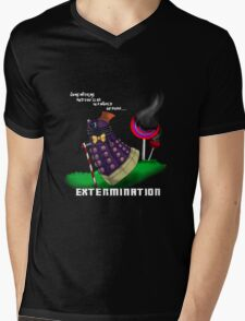 Dalek and the chocolate factory Mens V-Neck T-Shirt