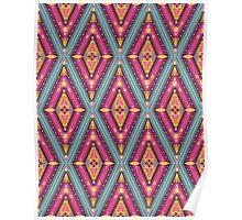 Aztec geometric colorful pattern Poster