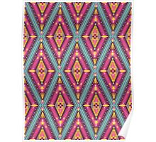 Aztec geometric colorful pattern Poster